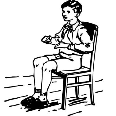 Stuhl für unruhige Kinder